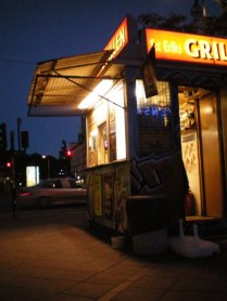 Late night grill in Stockholm.
