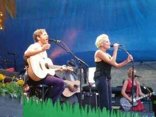Peter Jöback and Eva Dahlgren at Skansen
