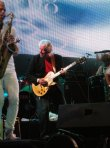 Original ABBA musician, Finn Sjoberg joins Arrival on stage as they play at Europride, Stockholm