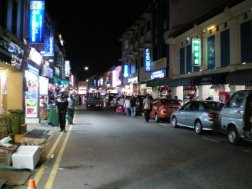 Little India by night in Singapore