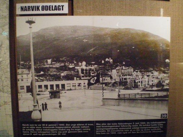 Devastation of Narvik in the War Museum