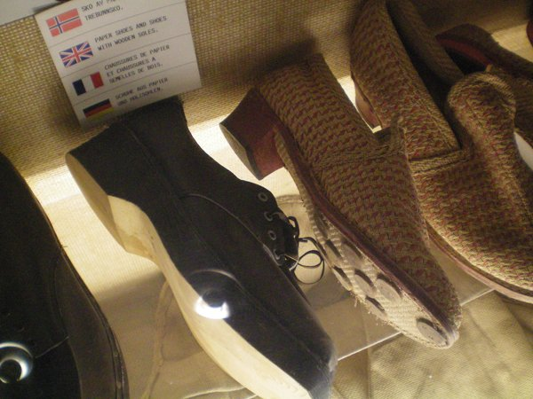 Paper Shoes in the War Museum in Narvik