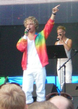 Ola at Schlager Night at Stockholm Pride 2008