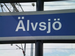 Älvsjö - harder to pronounce than you might imagine.