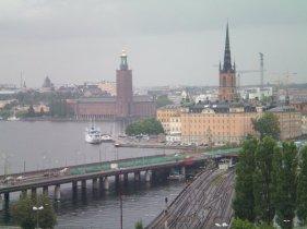 The view from Katarinahissen