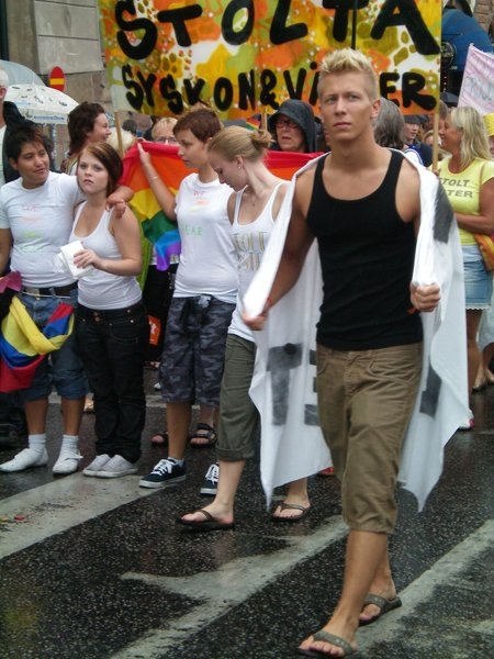 Eye candy at Europride in Stockholm 2008