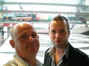 Jag och Gustav i Stockholm