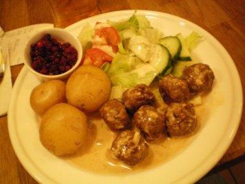 Swedish meat balls.