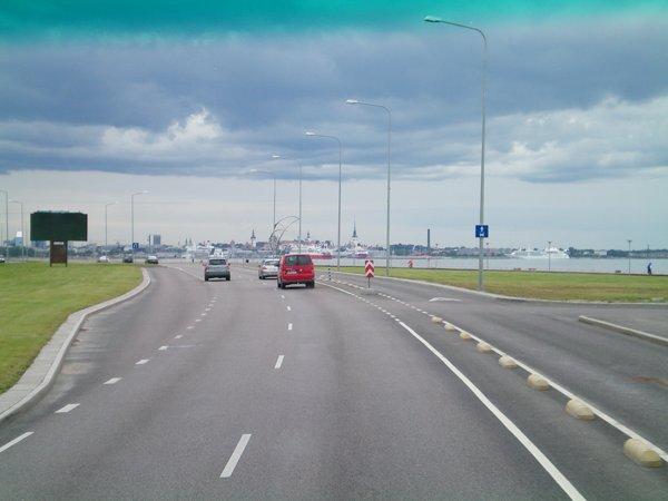 A major road in Tallinn