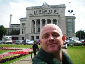 Outside the Latvian National Opera