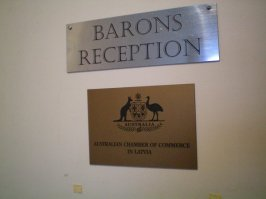 The Australian connection at Barons Hostel