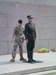 """""""Changing of the guard"""" at Riga, Latvia"""