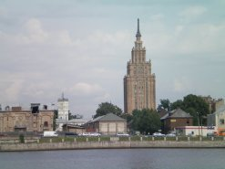 View from the river, Riga