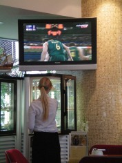 Australia in the Olympic Games in a bar in Jurmala, Latvia