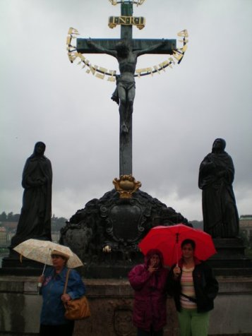 One of the Charles Bridge Statues