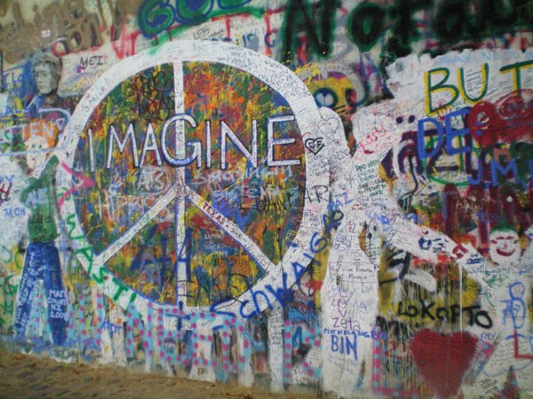 Part of Lennon Wall
