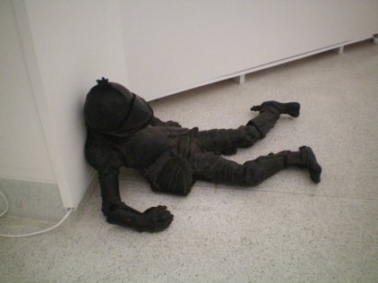 But my overall favourite work was by Laurd Ford called Armory Boys, a series of bronze sculptures depicting dead soldiers in a battlefield. It's remarkably beautiful and very moving.