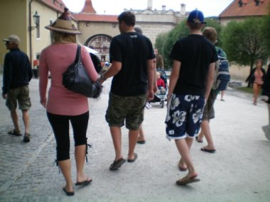 Australians on tour in Český Krumlov