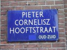 Street where I'm staying: Pieter Cornelisz Hoofstraat
