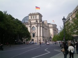 An old building hardly used until 1989, the German parliament: The Reichstag