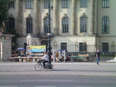 Students at the university near the book burning now sell cheap books daily.