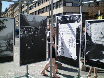 Posters at Prague Spring Anniversary