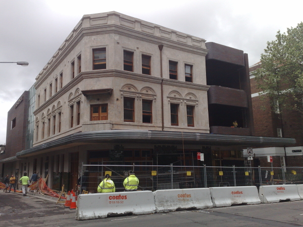 And further up the street, I noticed development work on the Beresford Hotel is coming along nicely.