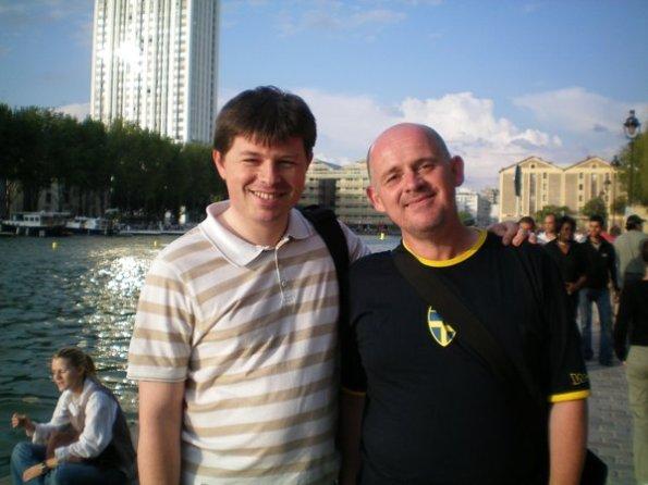 David and James in Paris