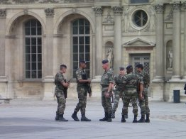 Armed forces at The Louvre