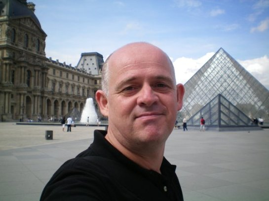 James at The Pyramid at The Louvre