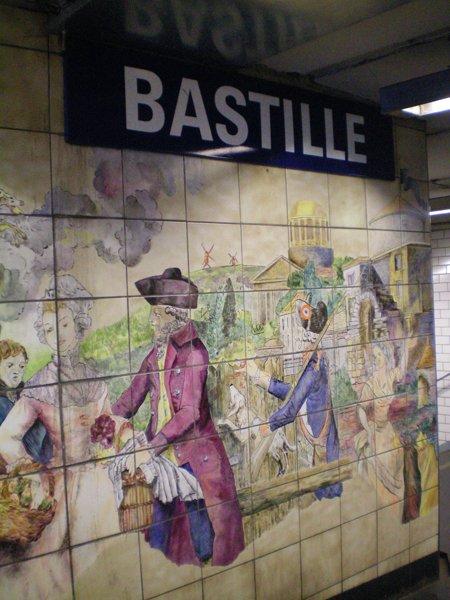 Bastille Metro in Paris