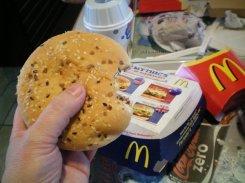 Australian burger at McDonalds in France