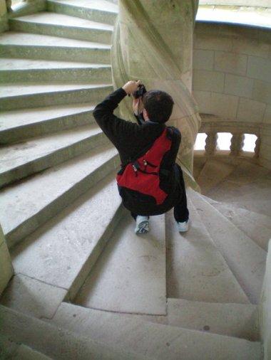 David at Chambord Castle, France