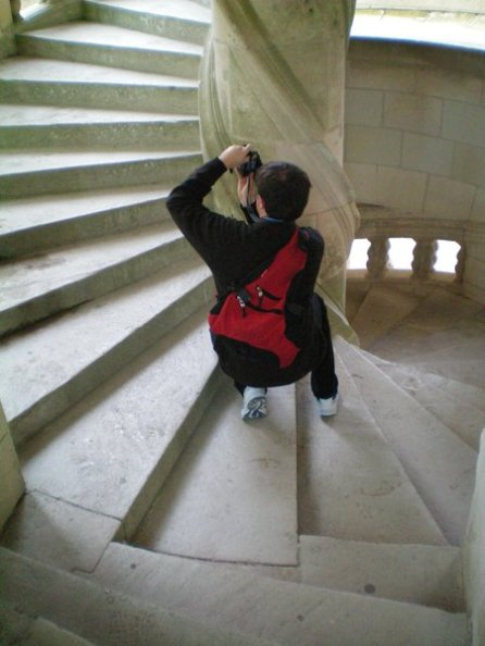 David at Chambord Castle, France