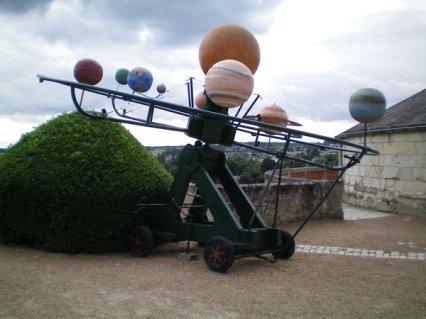 One of Leonardo da Vinci's party inventions at La Festa del Paradiso at Alboise.