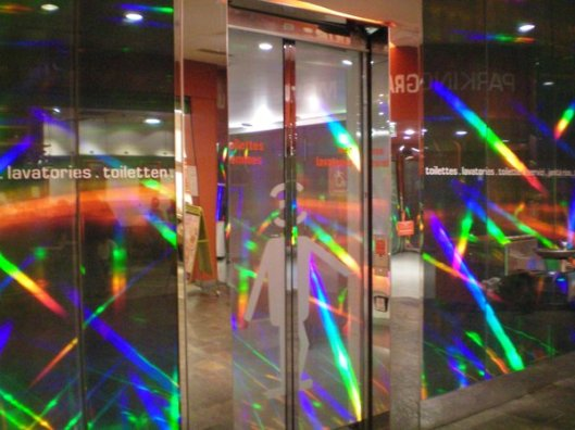 Disco toilet at Les Halles, Paris