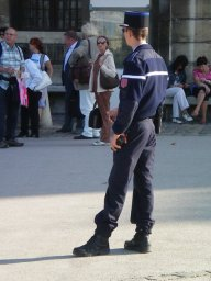Keeping an eye on the tourists at Les Invalides