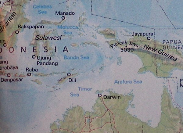 Timor not the on the map