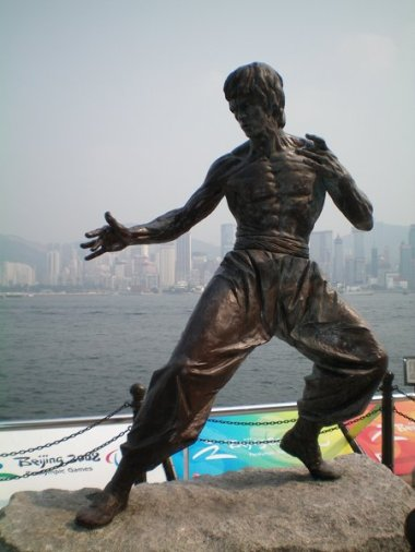 Bruce Lee statue in Hong Kong.