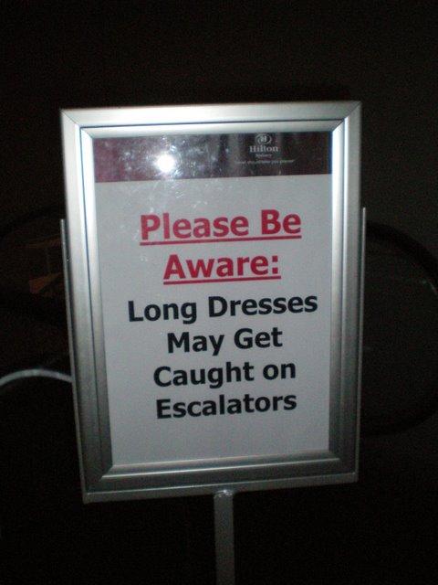 Long Dreses and Escalators - Hilton Hotel, Sydney