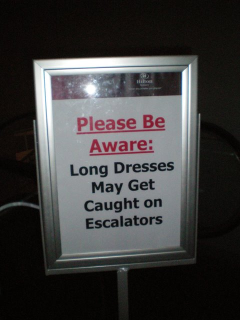 Long Dreses and Escalators - Hilton Hotel, Sydney