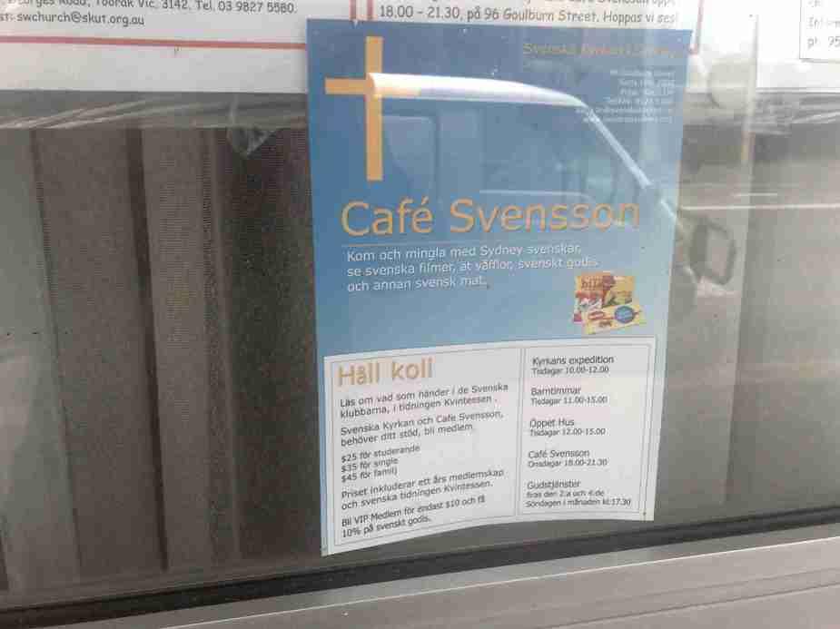 Swedish Cafe, Goulburn Street, Sydney