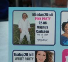 Magnus Carlsson playing at Patricia, Stockholm during Europride 2008.