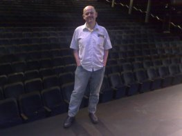 On stage at Sydney Theatre as part of the Open Day