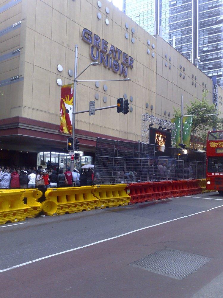 Premiere of the movie Australia at George Street, Sydney