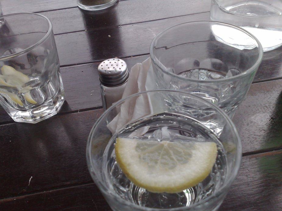 MIneral Water at the Bondi Trattoria
