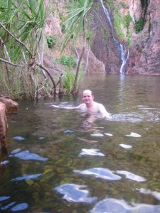 Swimming Litchfield while living in Darwin.