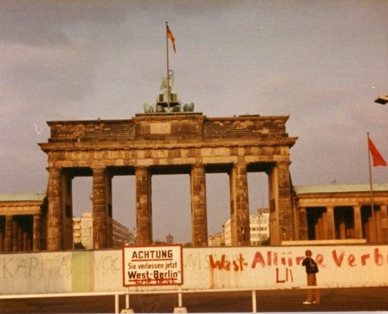 Visiting the Berlin Wall in 1983