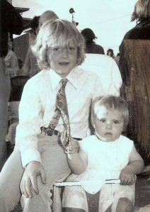 Lismore Show 1975 with my niece...