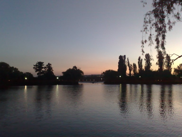 Lake Burley-Griffin, Canberra on Australia Day.